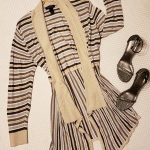 WHBM shimmer cardigan size L